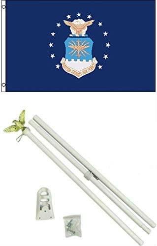 2x3 2'x3' Air Force Emblem Flag White Pole Kit