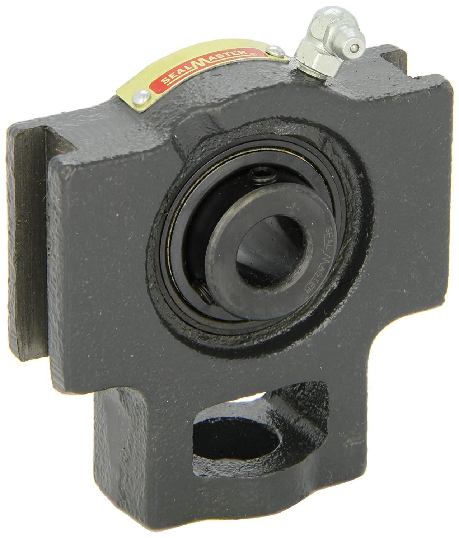 Sealmaster ST-43 Take-Up Unit, Standard Duty, Regreasable, Setscrew Locking Collar, Felt Seals, Cast Iron Housing, 2-11/16