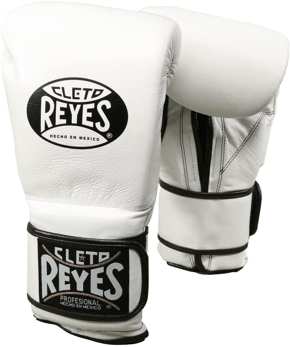 CLETO REYES Hook & Loop Training Gloves (12 OZ, White)