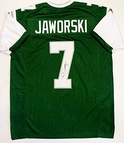 Ron Jaworski Autographed Jersey - Green Pro Style Witnessed Auth *7 - JSA Certified - Autographed NFL Jerseys