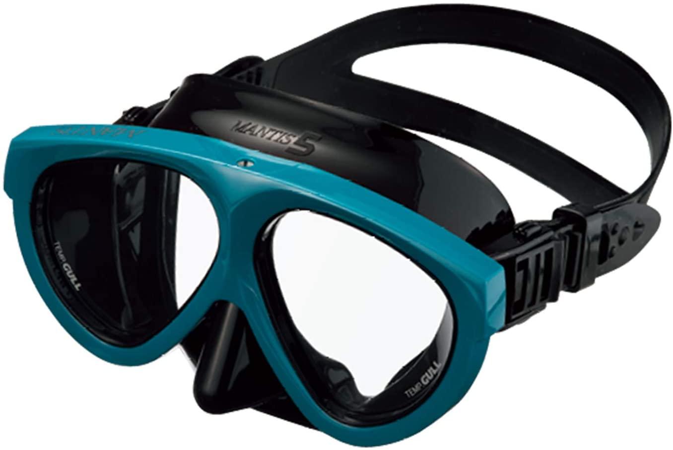 GULL Mantis 5 Black Silicone w/NTR Turquoise Frame