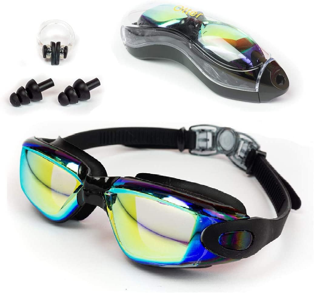 OTTER Easy Fit Triathlon Swim Goggles, Swimming Goggles Anti Fog Shatterproof UV Protection