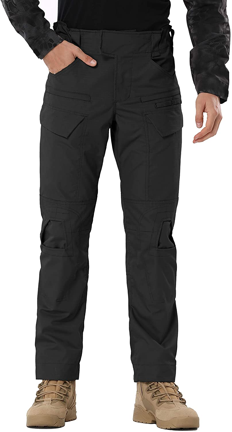 Hellmei Men's Tactical Pants Lightweight Outdoor Sports Military Training Hiking Work Cargo Pants