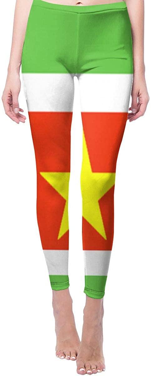 Ruin Yoga Pants Suriname National Flag High Waist Skinny Leggings Sweatpants