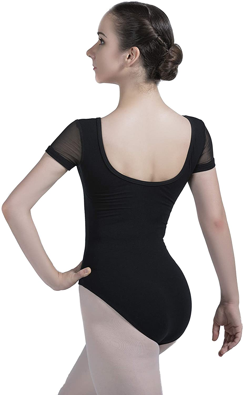 Dance Favourite Black Leotards Gymnastics for Girls and Women 01D0062