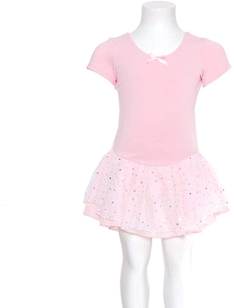 DanzNmotion by Danshuz Girl's Short Sleeve Dress Hologram Skirt