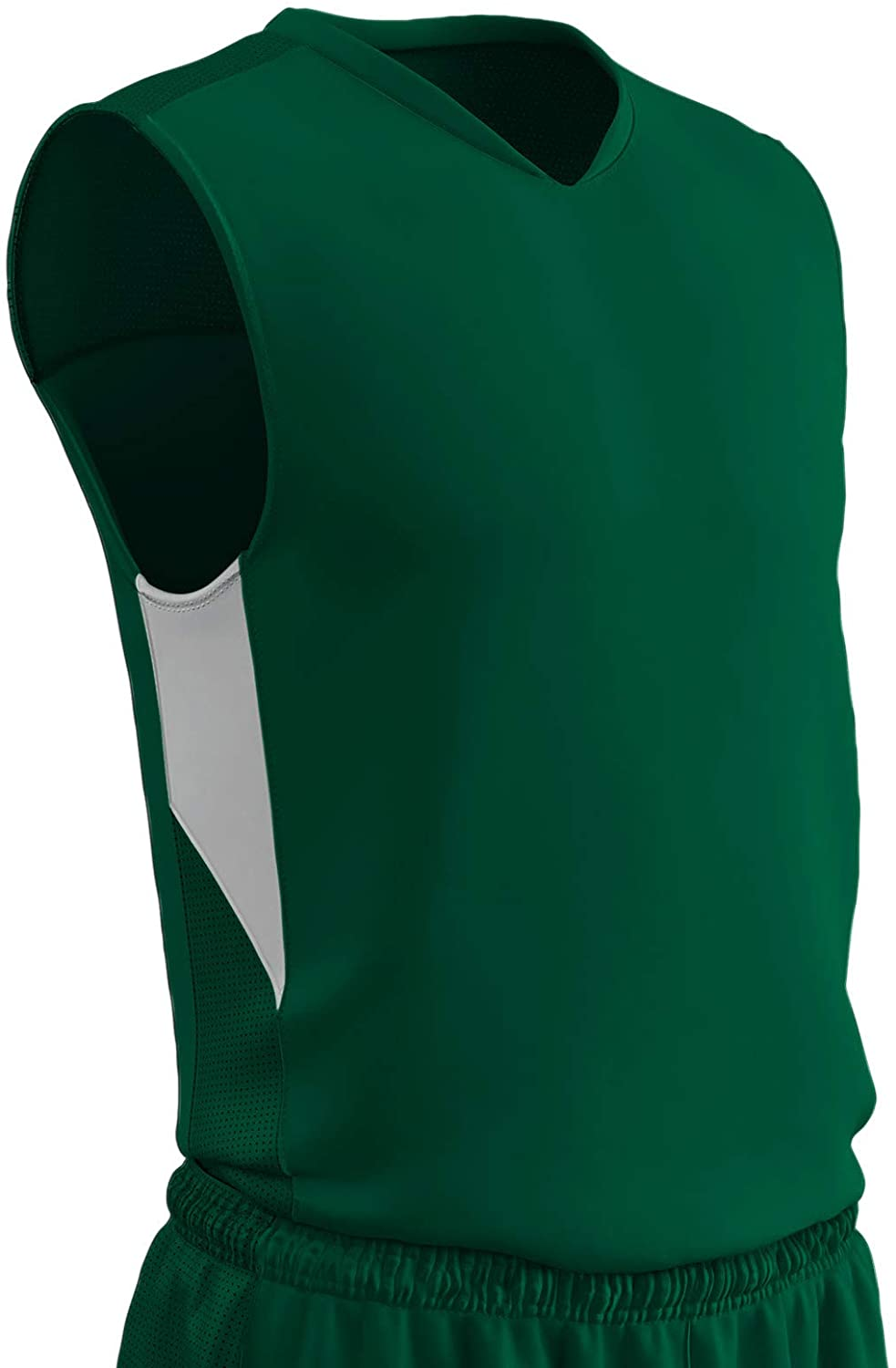 CHAMPRO Charge Polyester Basketball Jersey, Adult 4X-Large, Forest Green, White