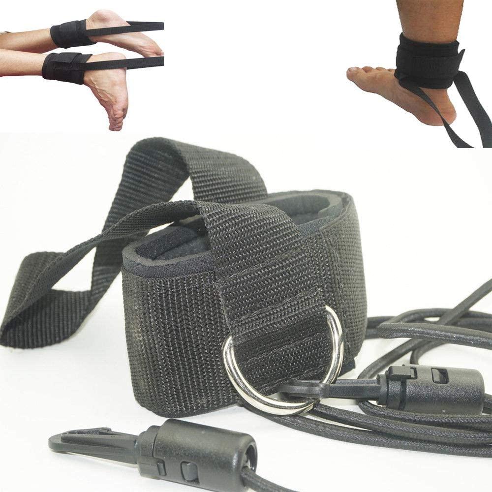 WETERS Swim Training Leash,Swim Ankle Strap Stationary, Swim Training Leash(2Pcs)