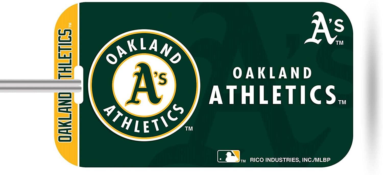 Rico Industries, Inc. Oakland Athletics A's Plastic Luggage Tag Bag Identification Baseball