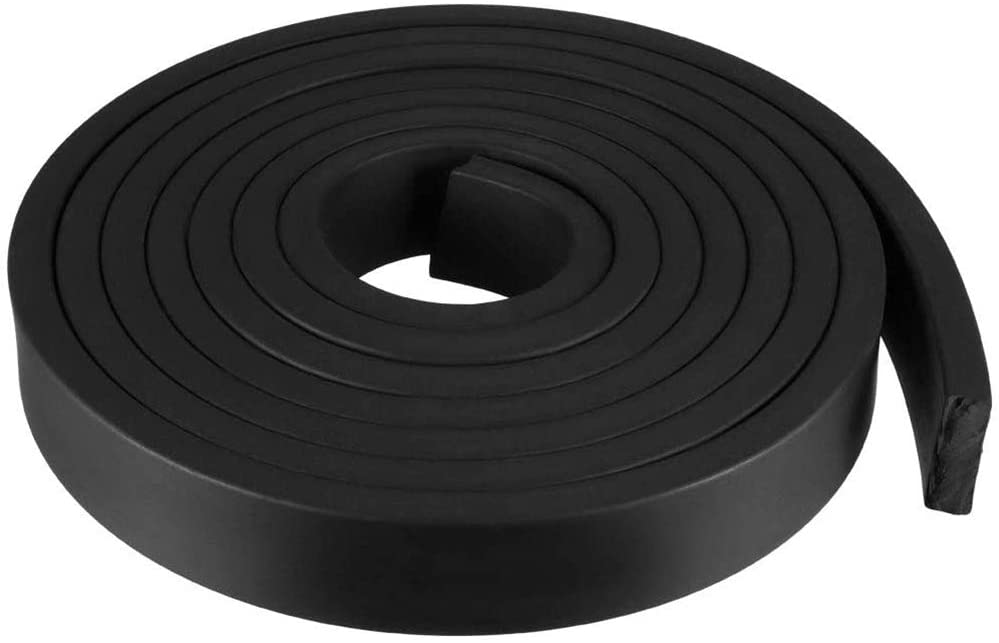JKGHK Rubber Strip Door Seal, Weather Strip, Gasket Making,20mm x 15mm x 3meters
