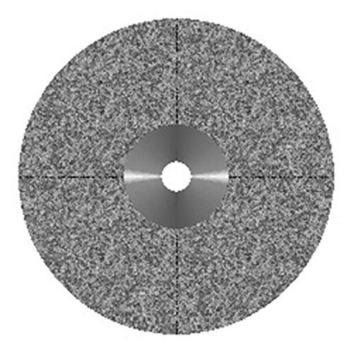 VAL-Lab D916-220(327.514.220)/M Diamond Disks, Premium Quality, Semi Flex, Double Sided/Mounted, Size 22 mm, Thickness 0.45 mm, 50 μm, Medium Grit