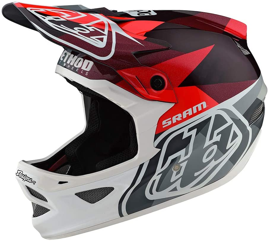 Troy Lee Designs Adult Full Face | BMX | Downhill | D3 Carbon Jet Mountain Biking Helmet with MIPS (X-Large, Red)