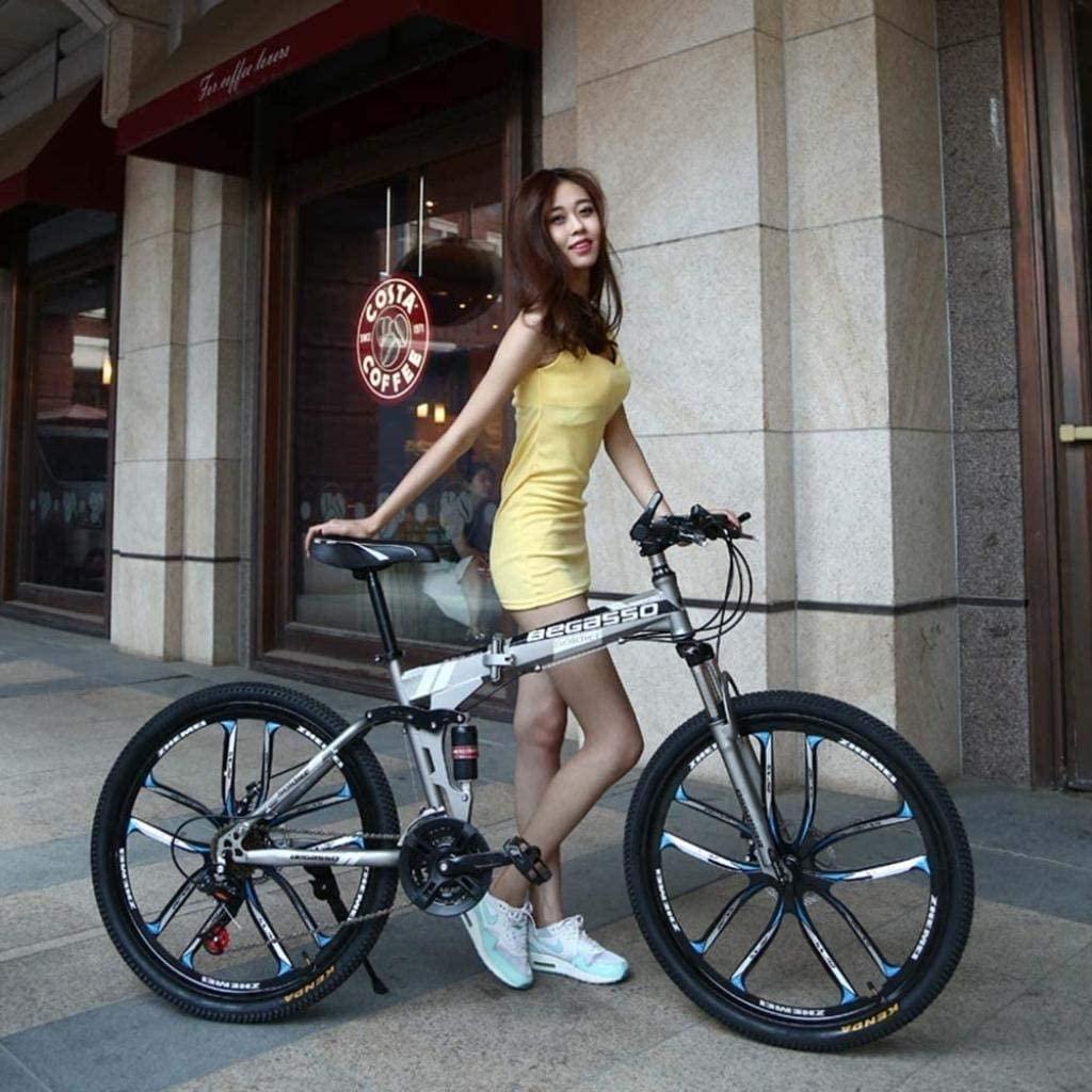 CSS Honglianriven Folding Bike,Mountain Bicycle,Hard Tail Bike,26In17In/24In17In Bike,21 Speed Bicycle,Full Suspension MTB Bikes 6-11,26 inches
