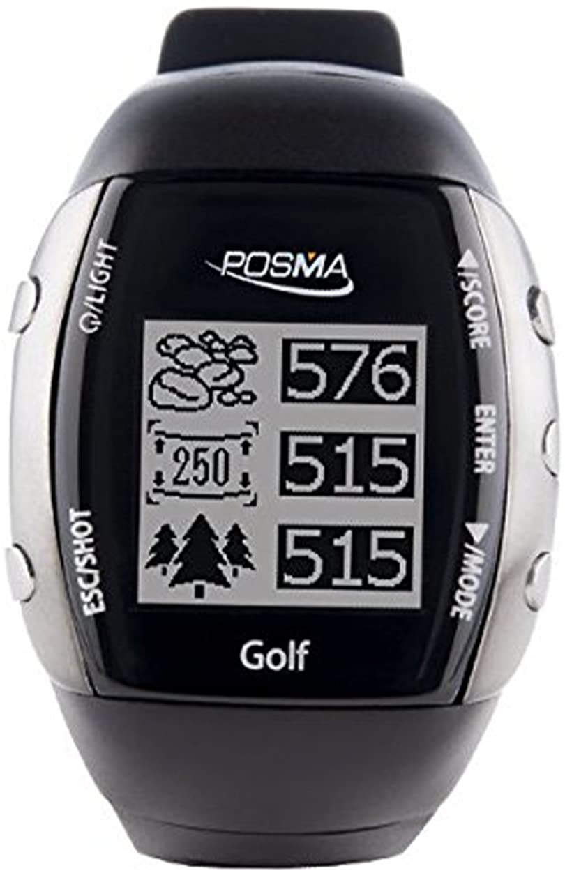 IDS Home POSMA GM2 Wireless GPS Golf Watch Range HR, Activity Tracking, Finder, Golf Trainer Built-in Heart Rate Monitor Sensor