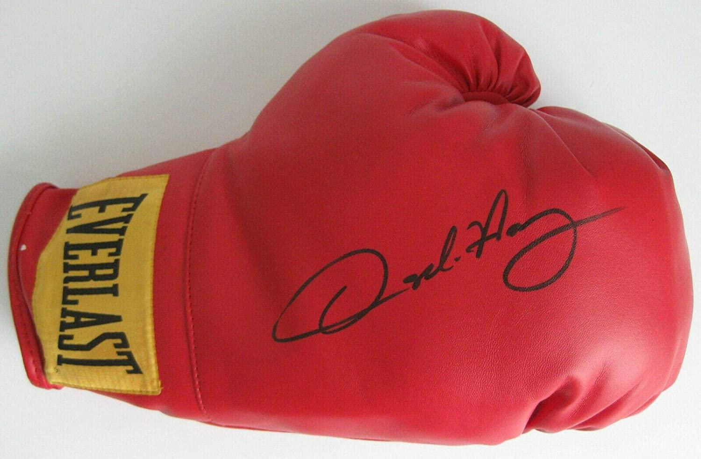 Oscar De La Hoya Golden Boy Boxing Legend signed autographed boxing glove proof - Autographed Boxing Gloves