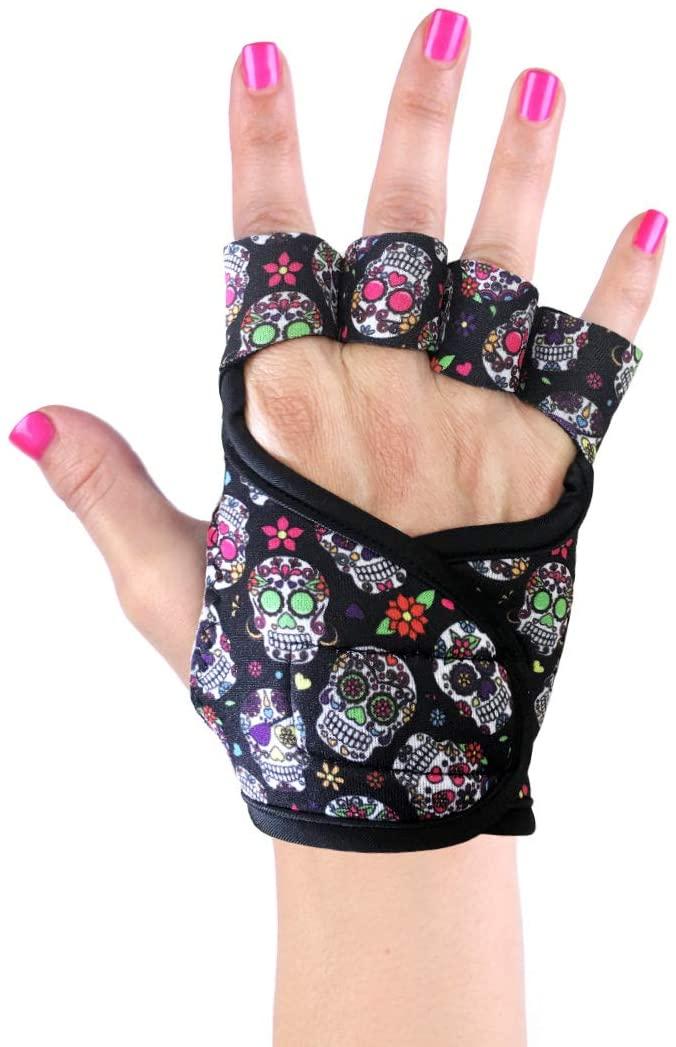 Women's Workout Gloves   Grateful Skulls, Skulls, Sugar Skulls, Skullmania   Exercise Gym Fitness Weightlifting Bodybuilding