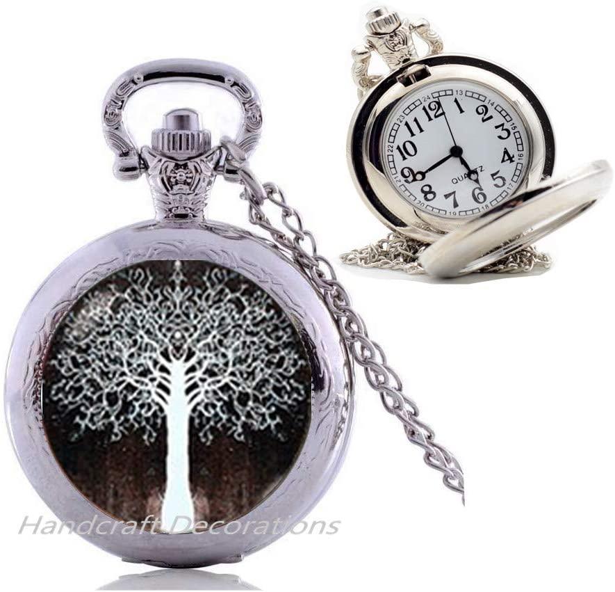 HandcraftDecorations Tree of Life Pendant Tree of Life Pocket Watch Necklace Tree of Life Jewelry Gift for Women Gift for her Handmade Pocket Watch Necklace Gift idea Jewelry Bridesmaid.F045