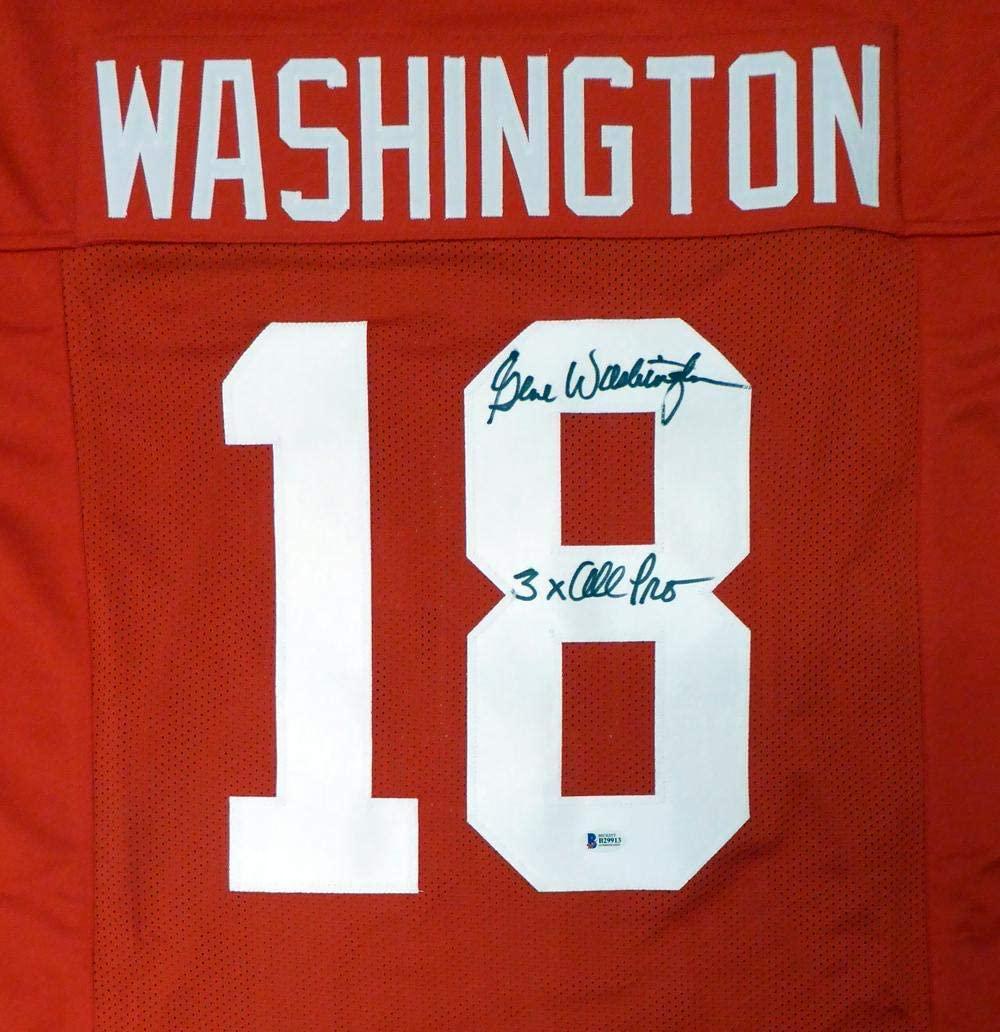 San Francisco 49ers Gene Washington Autographed Red Jersey