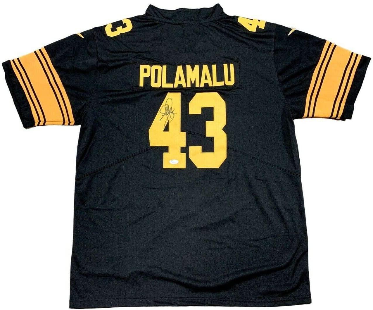 Autographed Troy Polamalu Jersey - 75th Anniversary - JSA Certified - Autographed NFL Jerseys