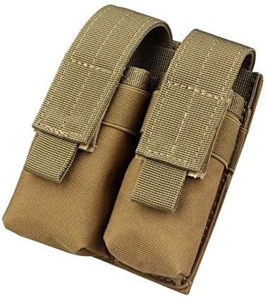 Gexgune Hunting Magazine Pouch, Nylon Mag Pouch Tactical Double Molle Pistol Magazine Pouches for 1911 Glock 9mm (2 Color Optional)