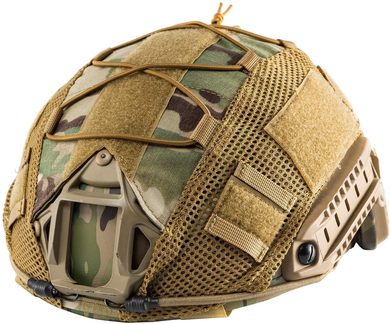 OneTigris Multicam Helmet Cover - No Helmet (ZKB06 for Ballistic Fast Helmet in Size L & Fast PJ Helmet in Size L/XL - Multicam)