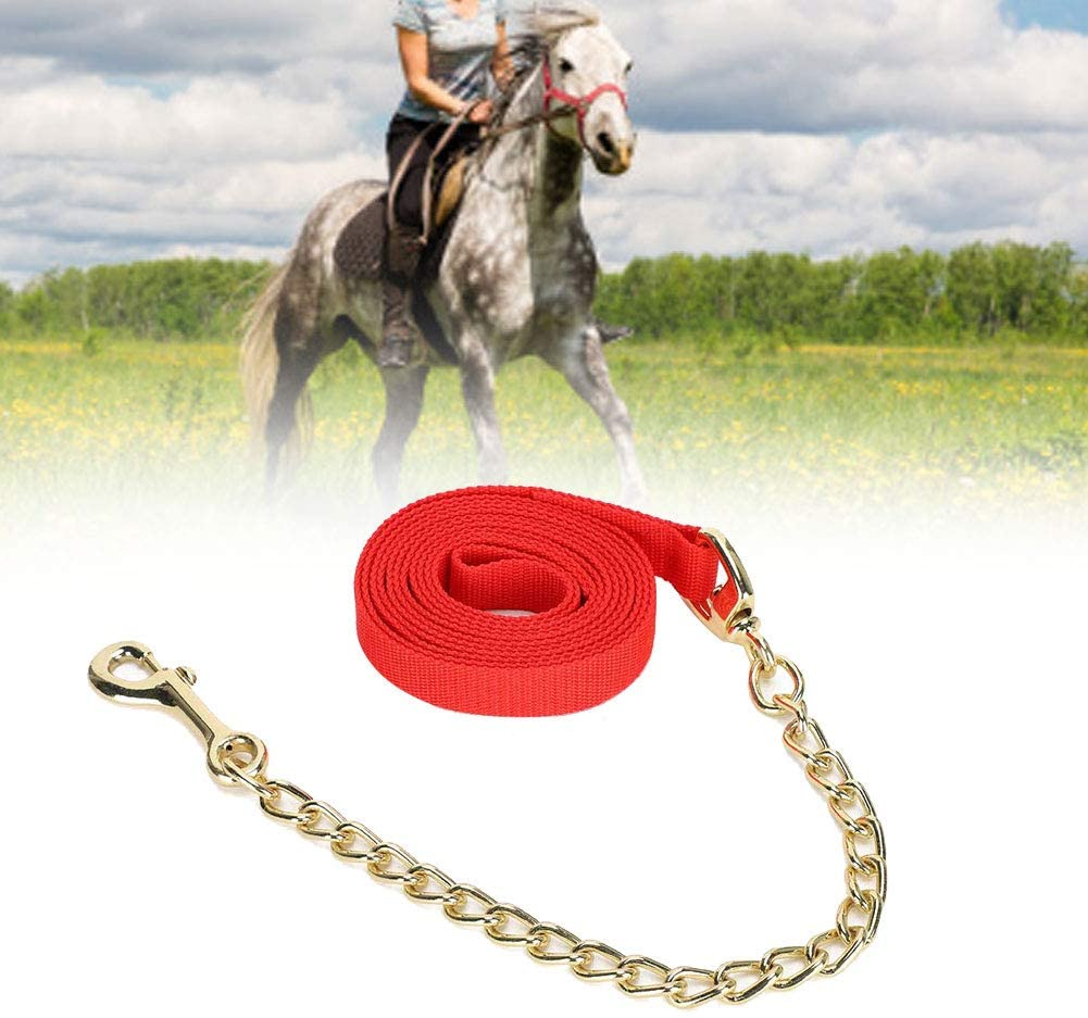 Haokaini Portable Livestock Horse Headstall Halter Traction Rope Holding Ropes Accessory with Hook