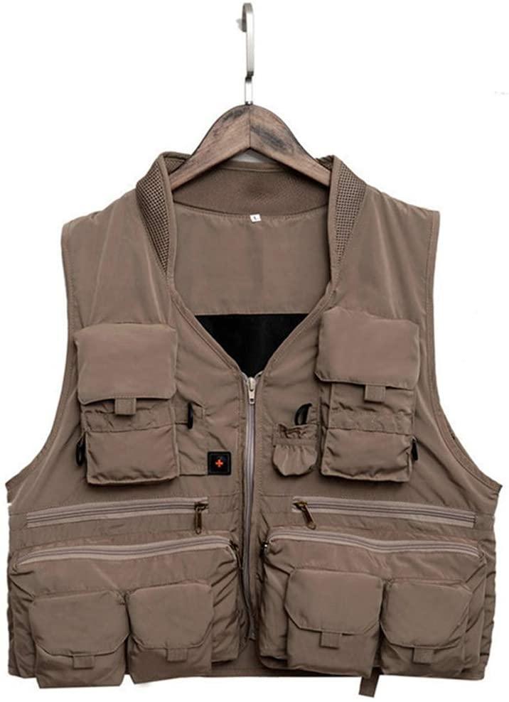 Korean Fishing Vest Quick Dry Fish Vest Breathable Material Fishing Jacket Polyester Fiber Vest