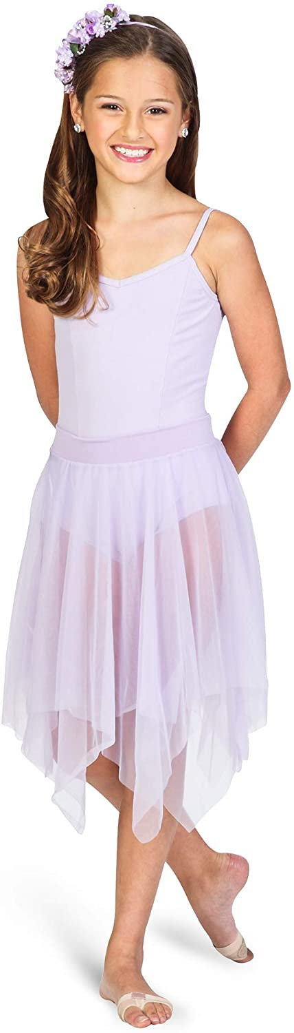Body Wrappers Uneven Hem Double Layer Chiffon Skirt (539)
