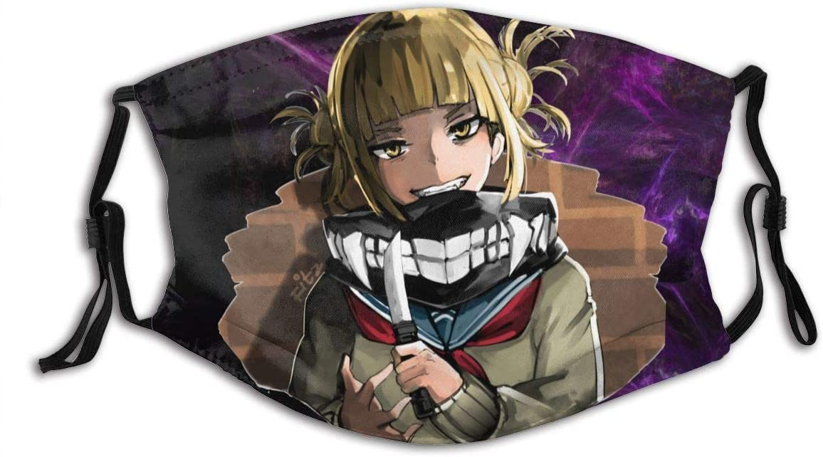 N/N Himiko Toga Dust Reusable Washable Filter and Reusable Mouth Windproof Warm Cotton Face