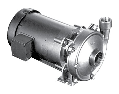 MP Pumps 31321 Chemflo 2 End Suction Centrifugal Pump, 316 Stainless Steel, 2 hp, 3 Phase Motor, Closed Couple 56C, 4.1