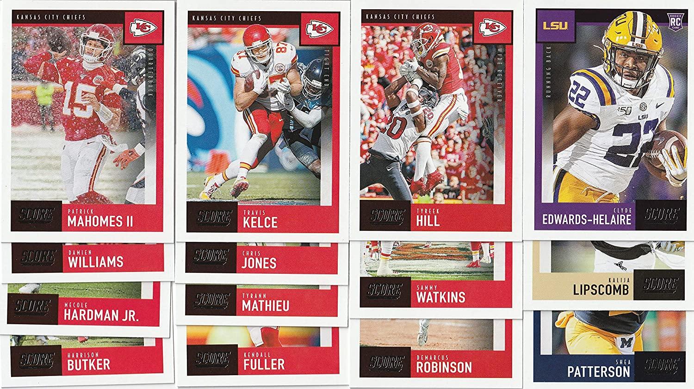 2020 Panini Score Football Kansas City Chiefs Team Set 14 Cards W/Drafted Rookies Super Bowl Champions MVP Patrick Mahomes