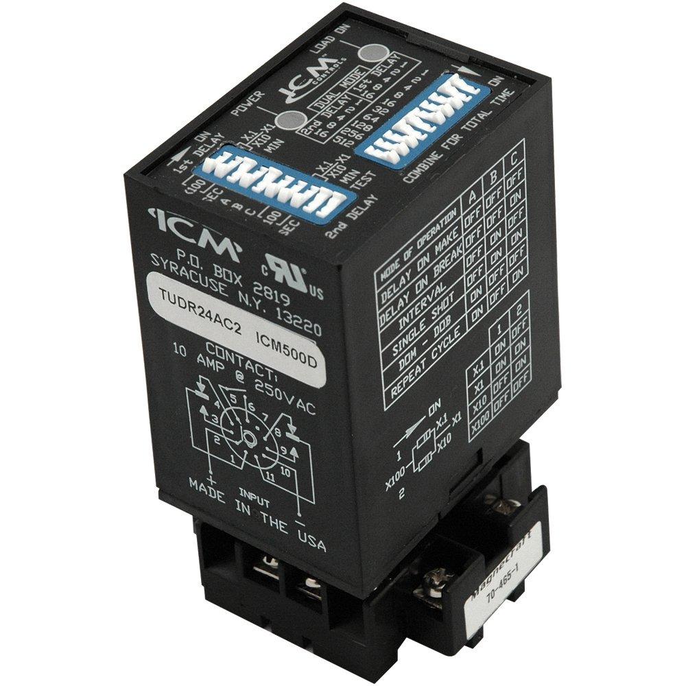 ICM Controls ICM503 Multi-Mode Timer, Switch Set, Input 12 VDC