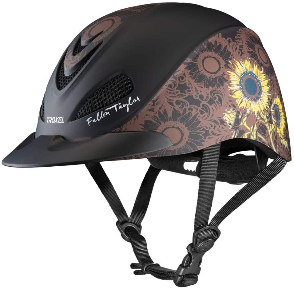 Troxel Fallon Taylor Sunflower Horse Western Riding Helmet Low Profile Adjustable