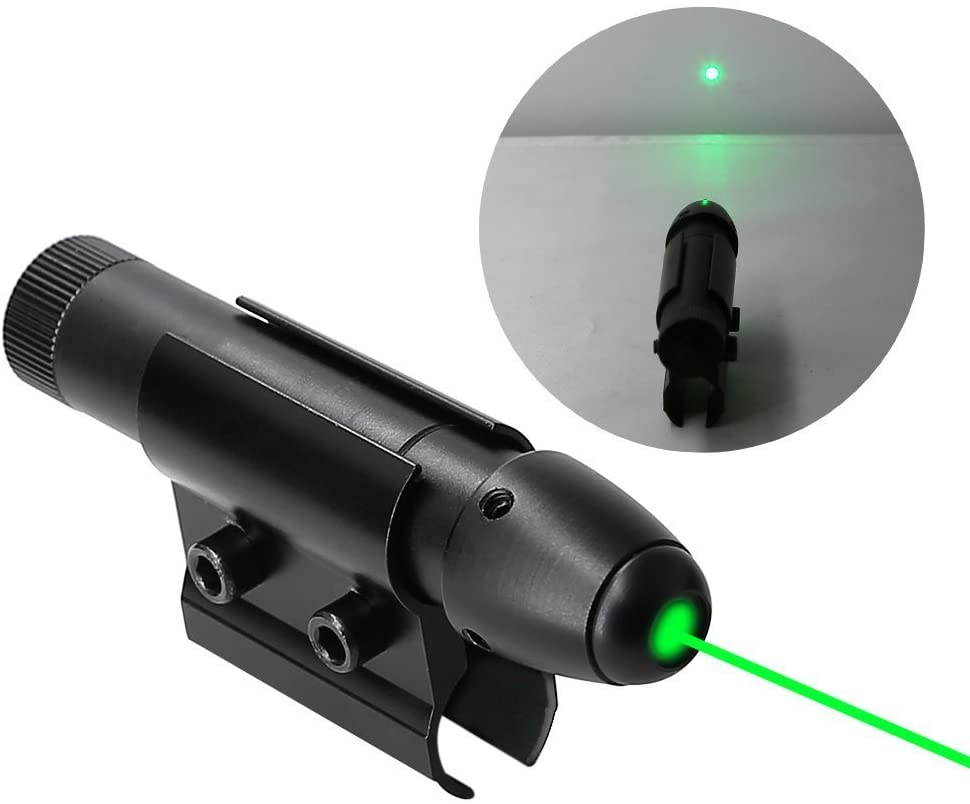 Higoo Powerful Green Laser Dot Sight, Military Tactical Hungting Green Laser Scope, Green Laser Aiming Sight