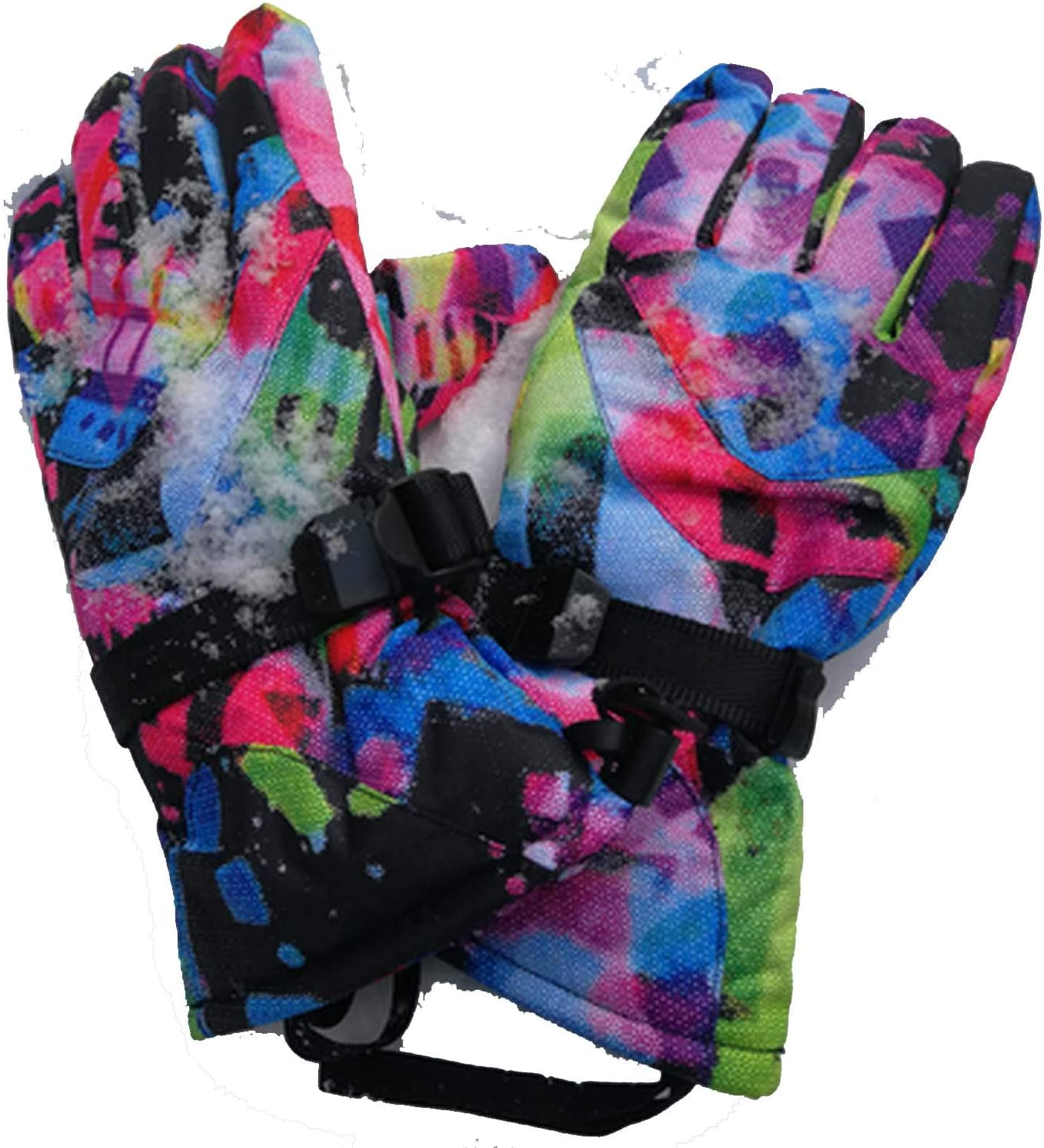 YR5V4V Skiing Gloves Women Winter Sports Gloves Waterproof Windproof Warm Snow Gloves Ladies Ski Gloves-in Skiing Gloves,Color 7 Woman,S