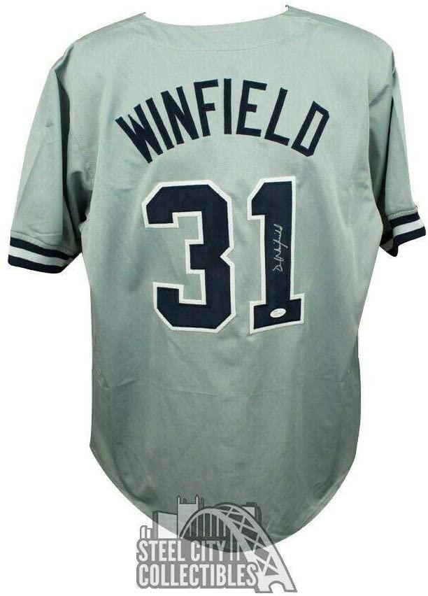 Signed Dave Winfield Jersey - Custom Gray COA - JSA Certified - Autographed MLB Jerseys