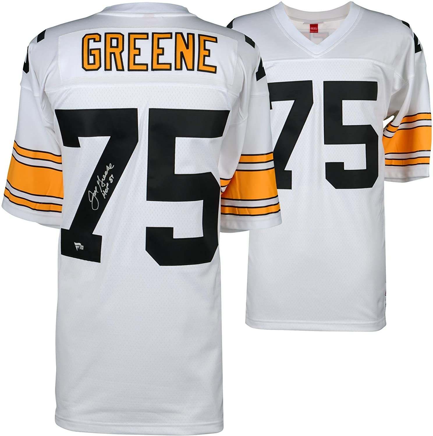 Joe Greene Pittsburgh Steelers Autographed White Mitchell & Ness Replica Throwback Jersey with