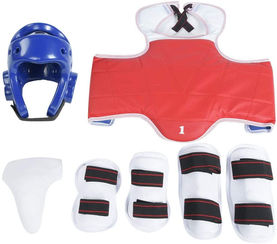 MAGT Taekwondo Groin Protectors,Durable Men Taekwondo Groin Guard,Comfortable Arm Band Boxing Karate Crotch Protector Kit Set,Ideal for Taekwondo, Boxing, Karate, Sanda