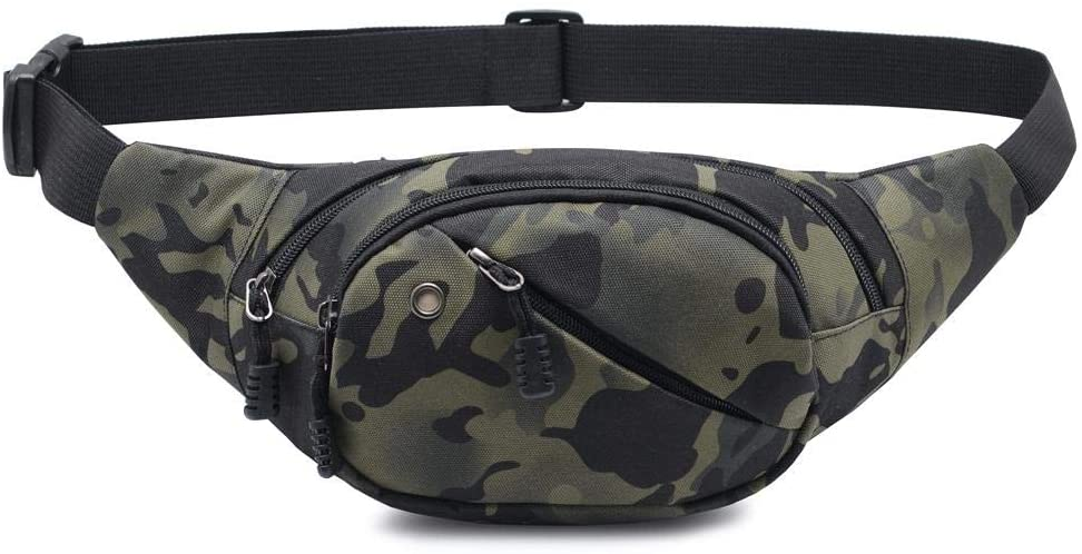 Ausion Waist Pack Bag,Chest Shoulder Fanny Pack Pouch with Zipper Pockets Adjustable Belt for Workout Vacation Hiking Running,for iPhone 11 Pro Xs Max XR X 8 7 Plus 6S Samsung Galaxy S10 Plus Note 10