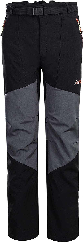 Topway Men's Soft Shell Windproof Sport Outdoor Fleece Liner Pants Long Trousers