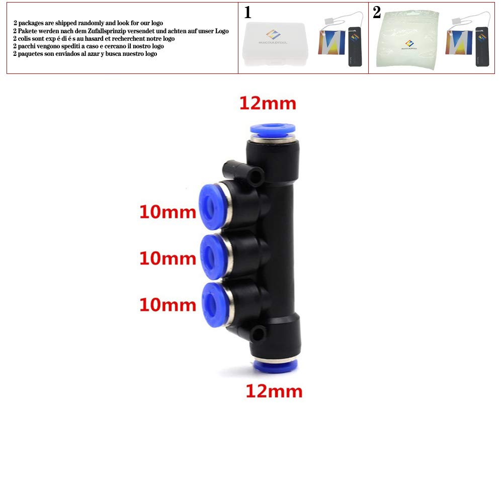 PKG'' Pneumatic Multiple Connector Quick Fitting Pneumatic Connector Push in Fit for Air PK4 6 8 10 12mm,12-10-12
