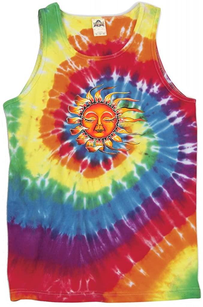 Yoga Clothing For You Mens Sleeping Sun Tie Dye Tank