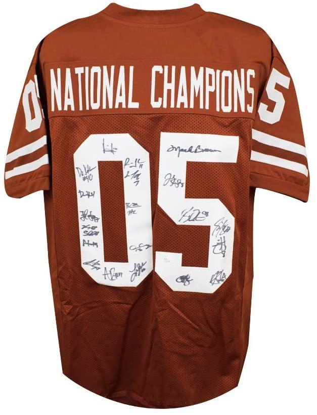 Texas Longhorns Autographed National Champions Custom Football Jersey - JSA LOA