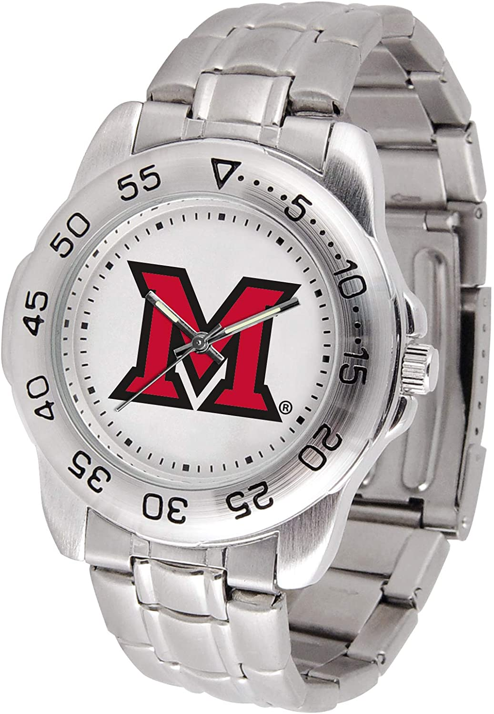 Miami Univ. Redhawks - Men's Sport Steel Watch
