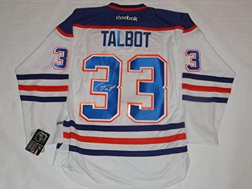 Cam Talbot Autographed Jersey - #33 Road Licensed - JSA Certified - Autographed NHL Jerseys