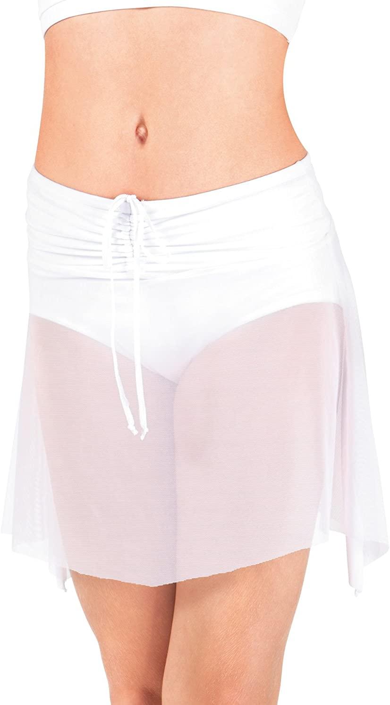 Body Wrappers Side-Dip Power Mesh Skirt (BW1103)
