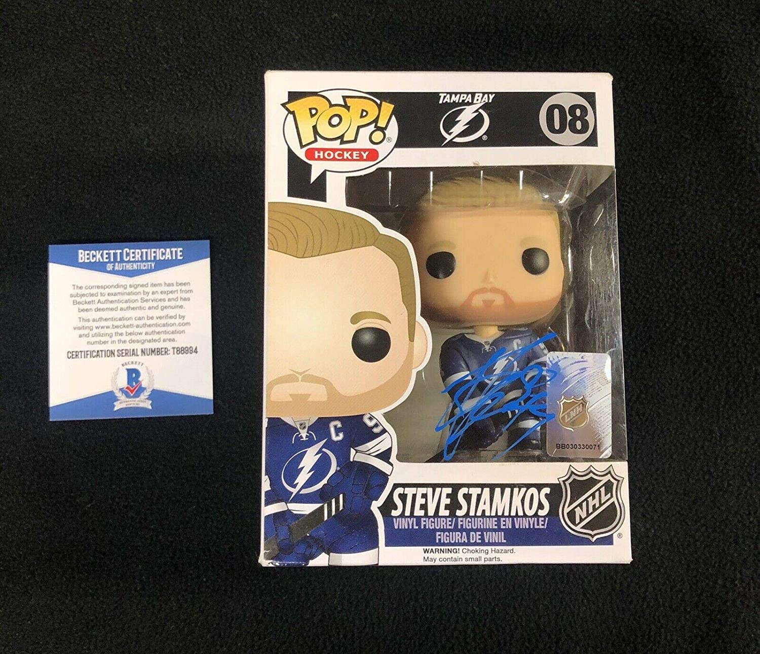 Steven Stamkos Signed Tampa Bay Lightning NHL Funko Pop Figure Beckett COA 88994 - Beckett Authentication
