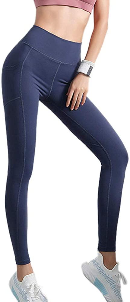 iRACHEU Women's High Waisted Tummy Control Yoga Leggings with Pockets Sport Pants