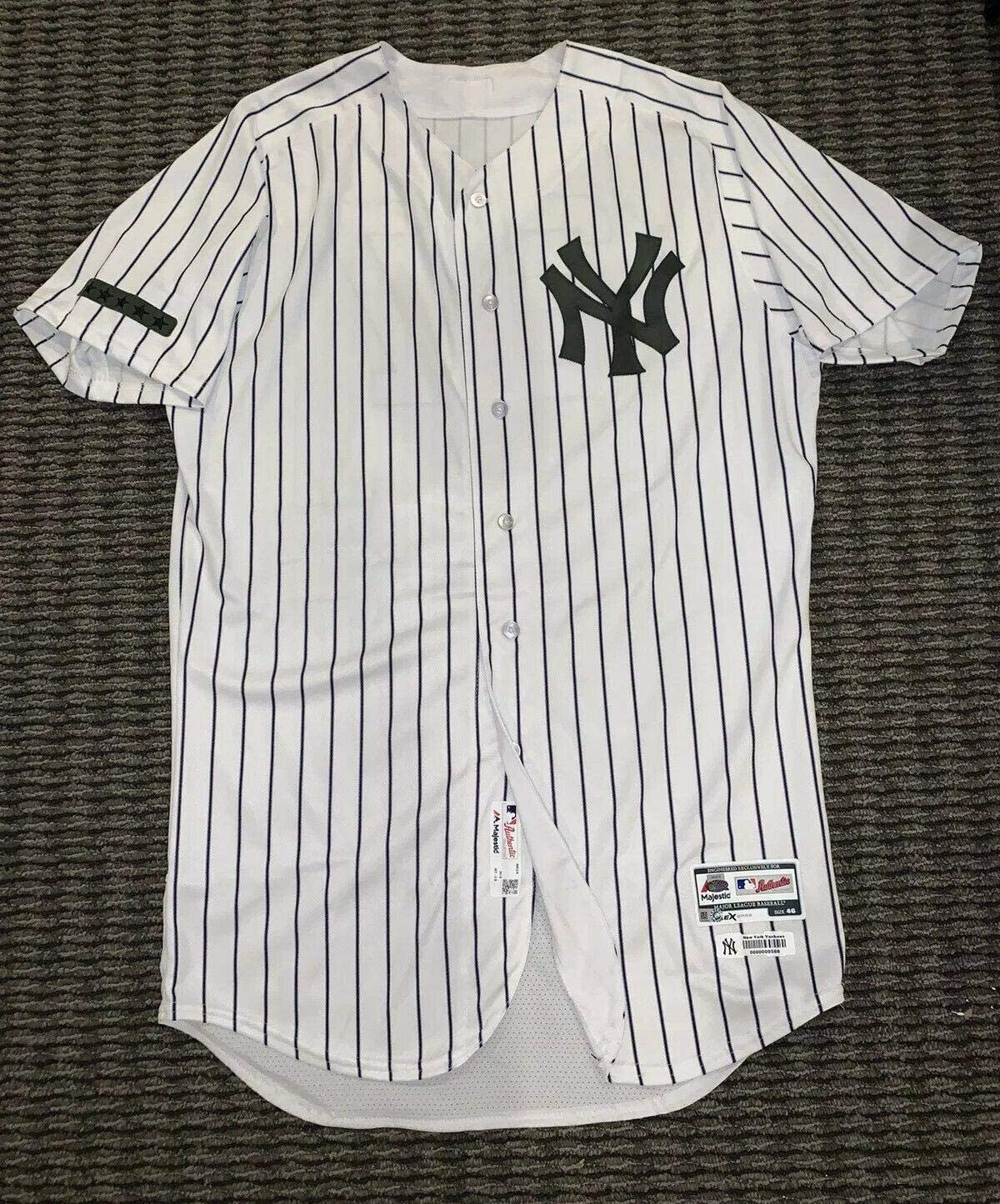 Giancarlo Stanton New York Yankees Game Used Worn Jersey 2018 Memorial Day MLB - MLB Game Used Jerseys