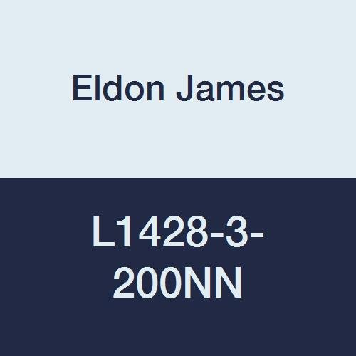 Eldon James L1428-3-200NN Natural Nylon Threaded Elbow, 1/4-28 UNF Thread to 3/16